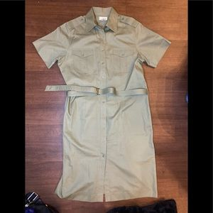 Brooks Brothers short sleeve dress w/belt